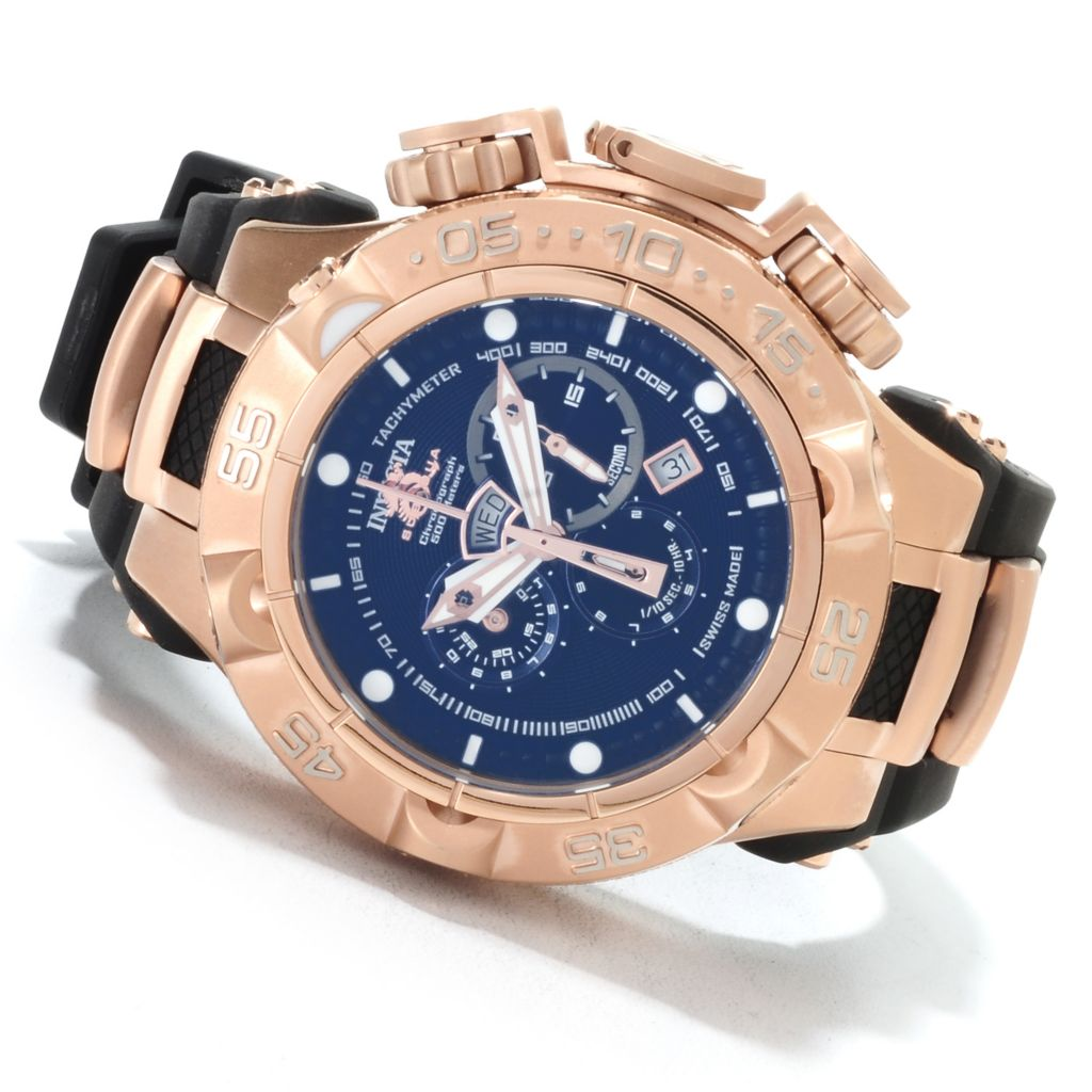 621-679 - Invicta 50mm Subaqua Noma V Swiss Made Quartz Chronograph Polyurethane Strap Watch