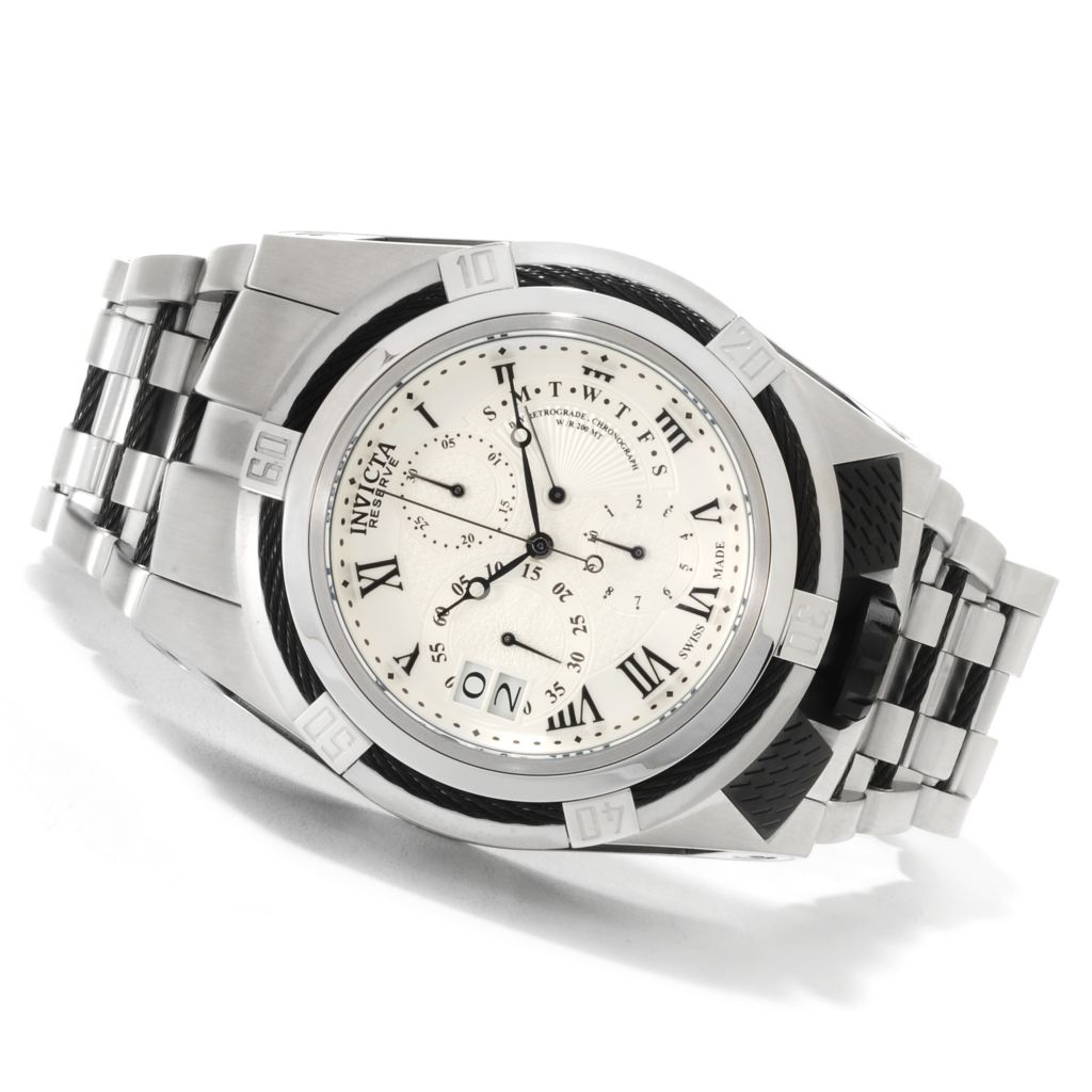 621-680 - Invicta Reserve Men's Bolt Zeus Elegant Swiss Made Quartz Chronograph Bracelet Watch