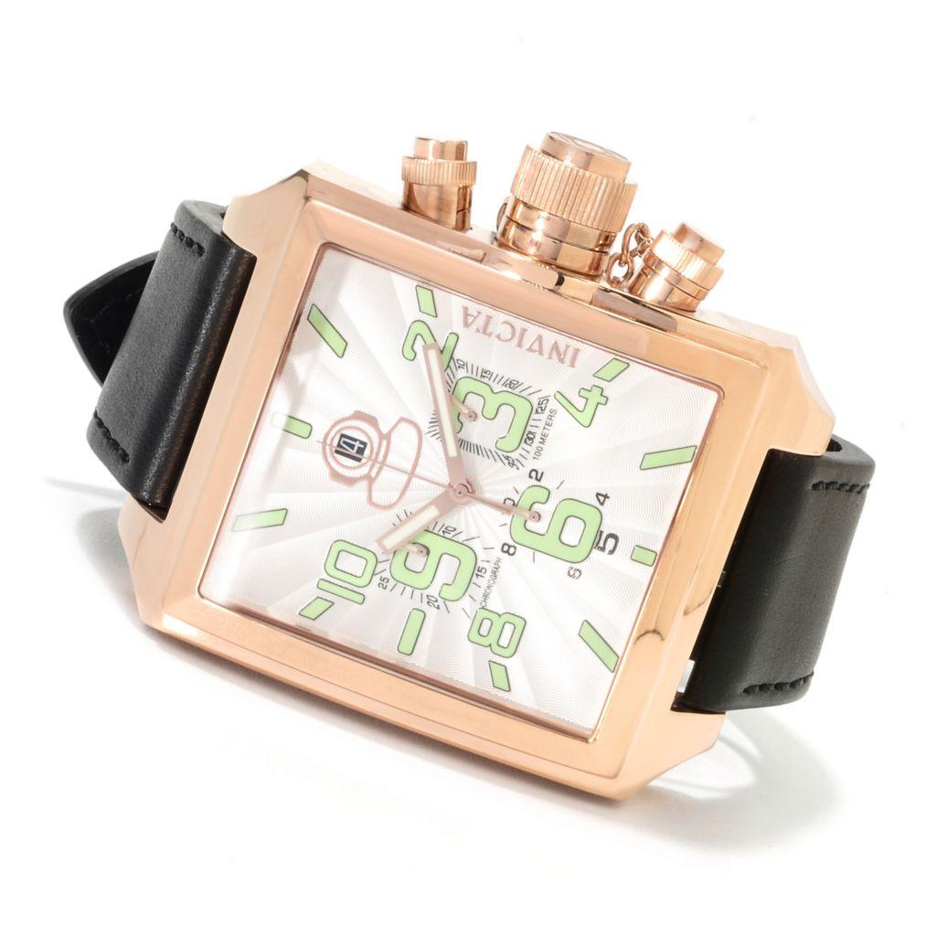 621-681 - Invicta Men's Russian Diver Signature Swiss Quartz Chronograph Leather Strap Watch