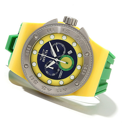 621-690 - Invicta Men's Akula Sport Quartz Chronograph Stainless Steel Case Silicone Strap Watch