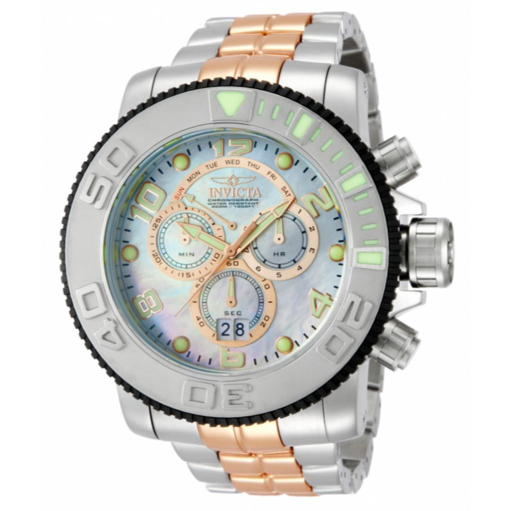 621-720 - Invicta Men's Sea Hunter Swiss Made Quartz Chronograph Stainless Steel Bracelet Watch