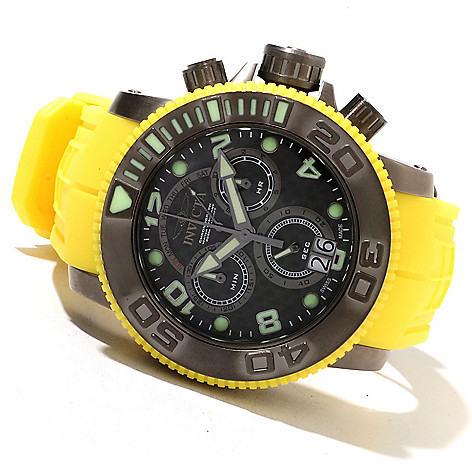 621-721 - Invicta Men's Sea Hunter Swiss Made Quartz Chronograph Stainless Steel Polyurethane Strap Watch
