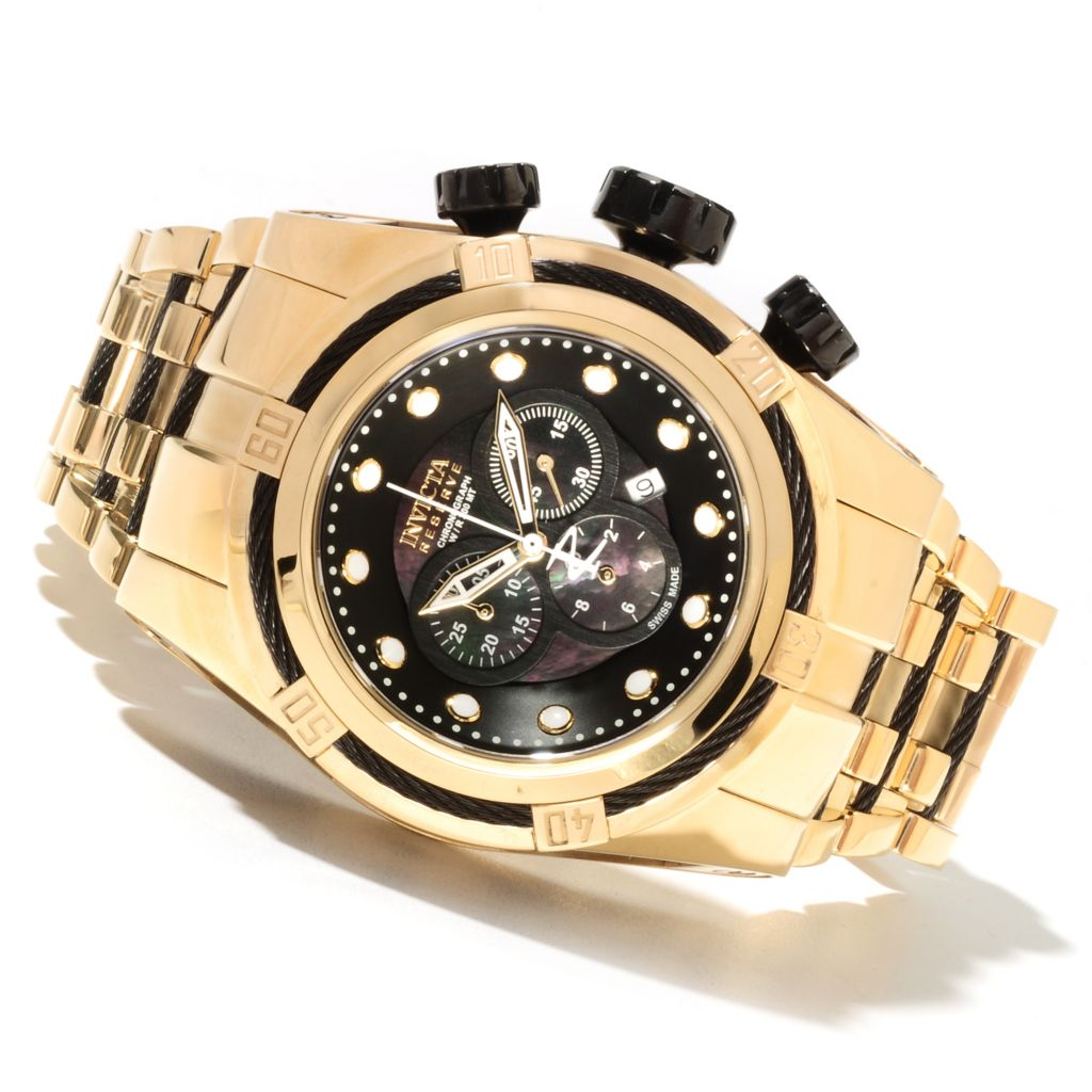 621-727 - Invicta Reserve 52mm Bolt Zeus Swiss Made Quartz Chronograph Stainless Steel Bracelet Watch