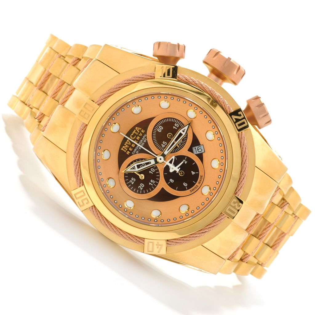 621-728 - Invicta Reserve 52mm Bolt Zeus Swiss Made Quartz Chronograph Stainless Steel Bracelet Watch