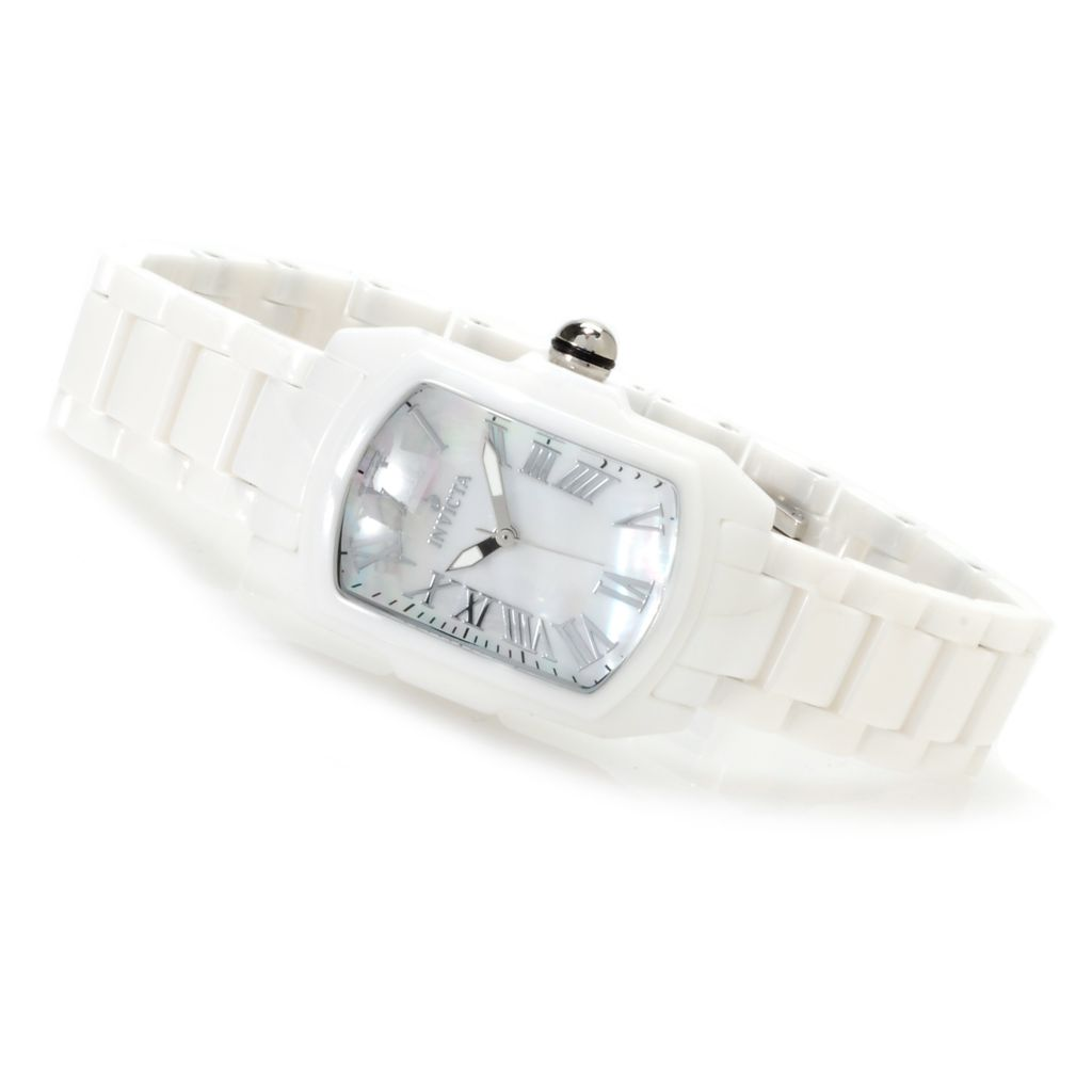 621-733 - Invicta Women's Baby Lupah Ceramic Quartz Mother-of-Pearl Bracelet Watch