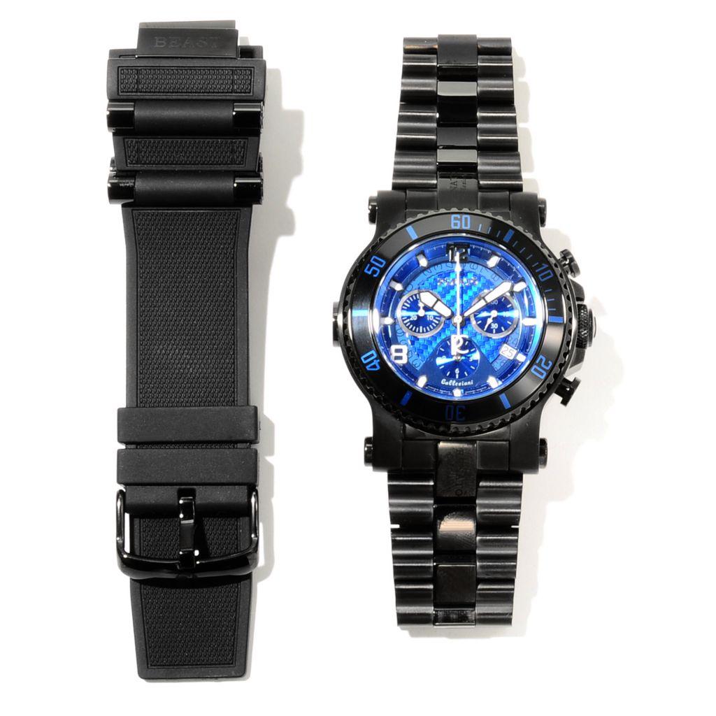621-791 - Renato 45mm Beast Diver Swiss Quartz Chronograph Bracelet Watch w/ Extra Strap