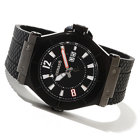 621-794 - Renato Men's Wilde-Beast Quartz Rubber Strap Watch