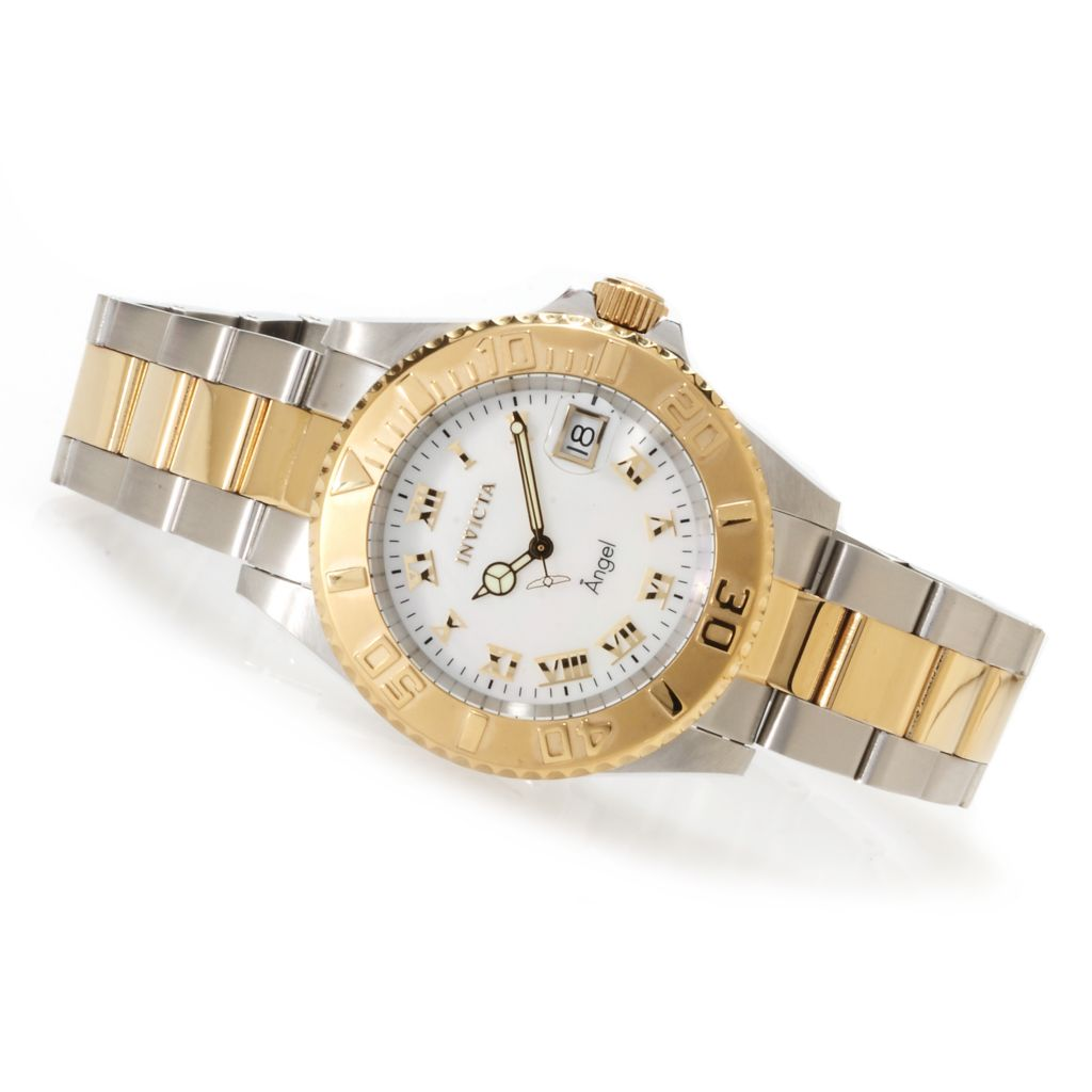 621-812 - Invicta Women's Angel Quartz Mother-of-Pearl Stainless Steel Bracelet Watch
