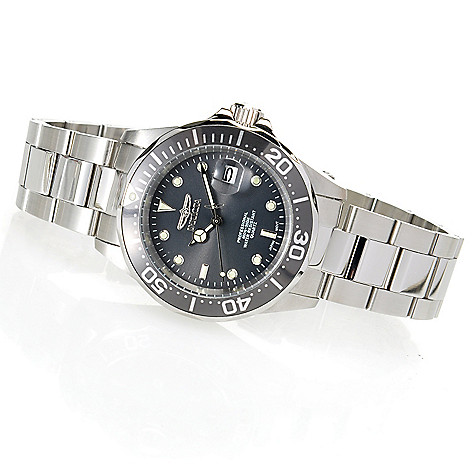 621-816 - Invicta Pro Diver Quartz Stainless Steel Bracelet Watch w/ Three-Slot Dive Case
