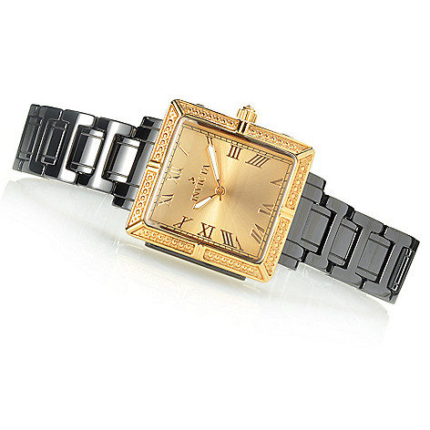 621-830 - Invicta Ceramics Women's Classique Quartz Square Case Bracelet Watch