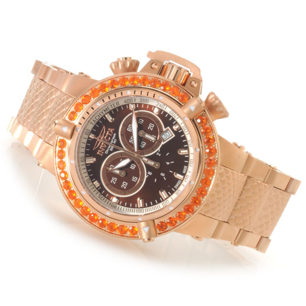 621-838 - Invicta Men's Subaqua Noma III Swiss Chronograph Fire Opal Bezel Bracelet Watch