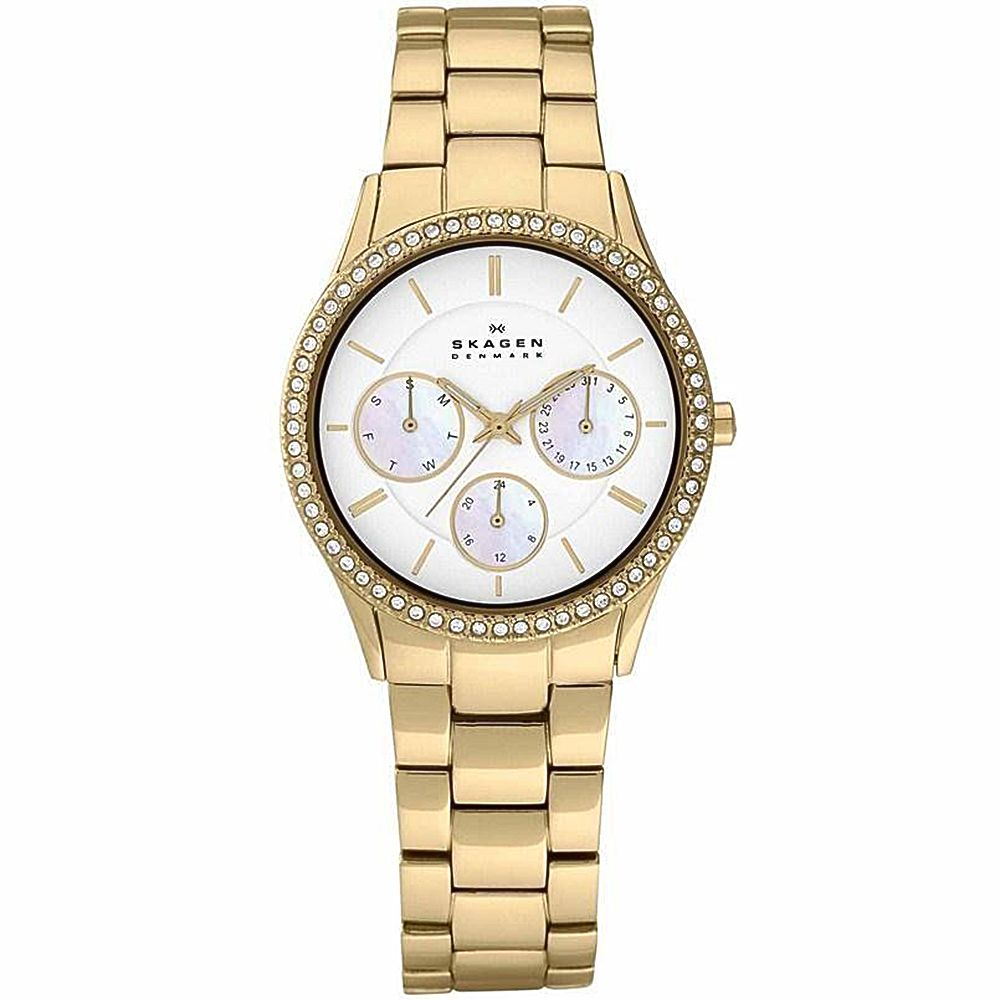 621-958 - Skagen Women's Quartz Gold-tone Stainless Steel Bracelet Watch