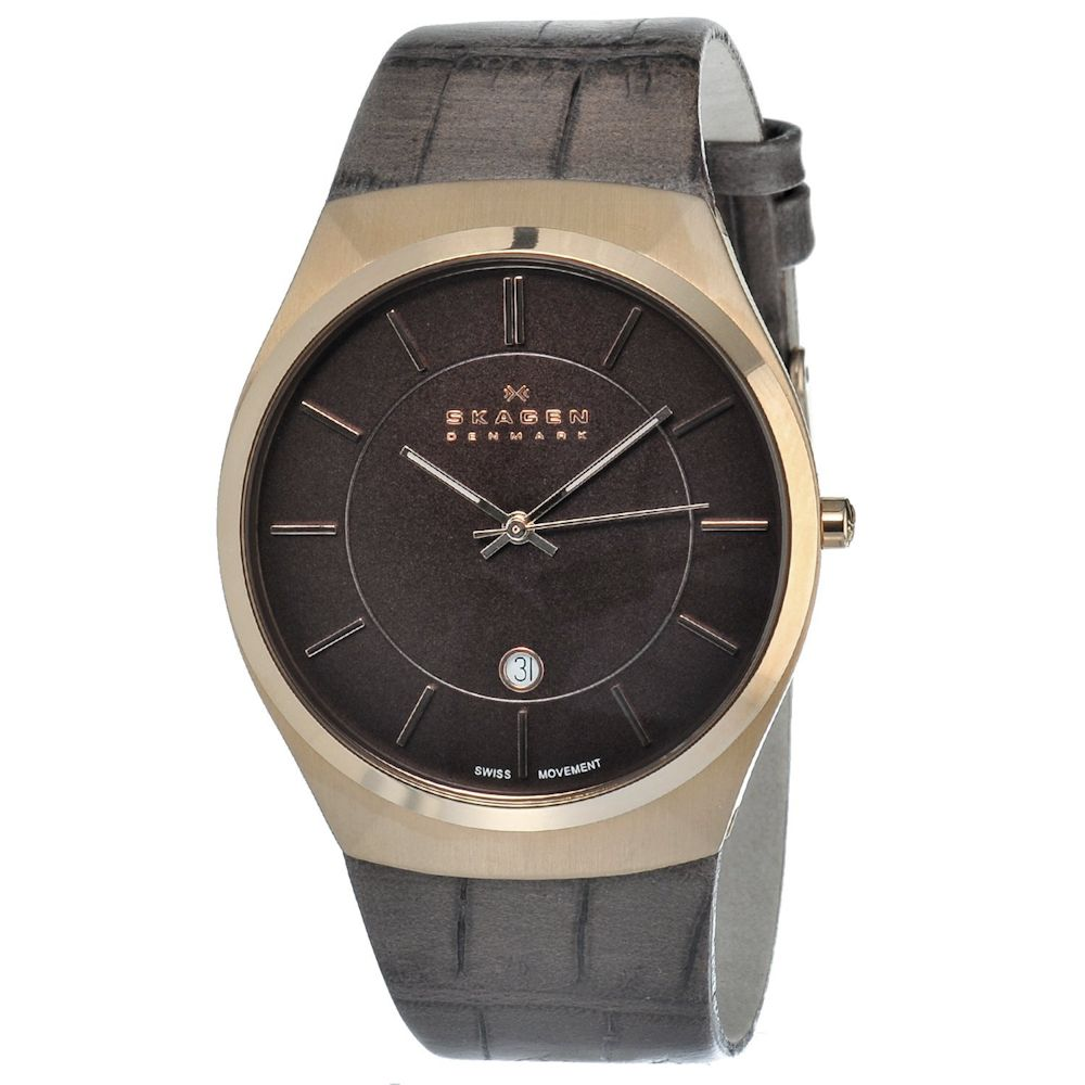 622-007 - Skagen Men's Classic Swiss Quartz Leather Strap Watch