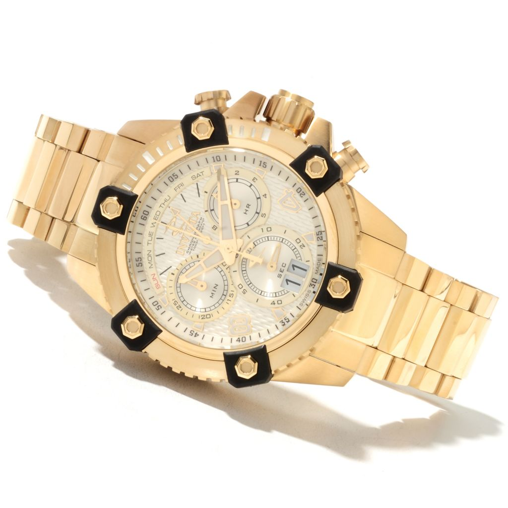 622-021 - Invicta Reserve 48mm Swiss Made Quartz Chronograph Stainless Steel Bracelet Watch