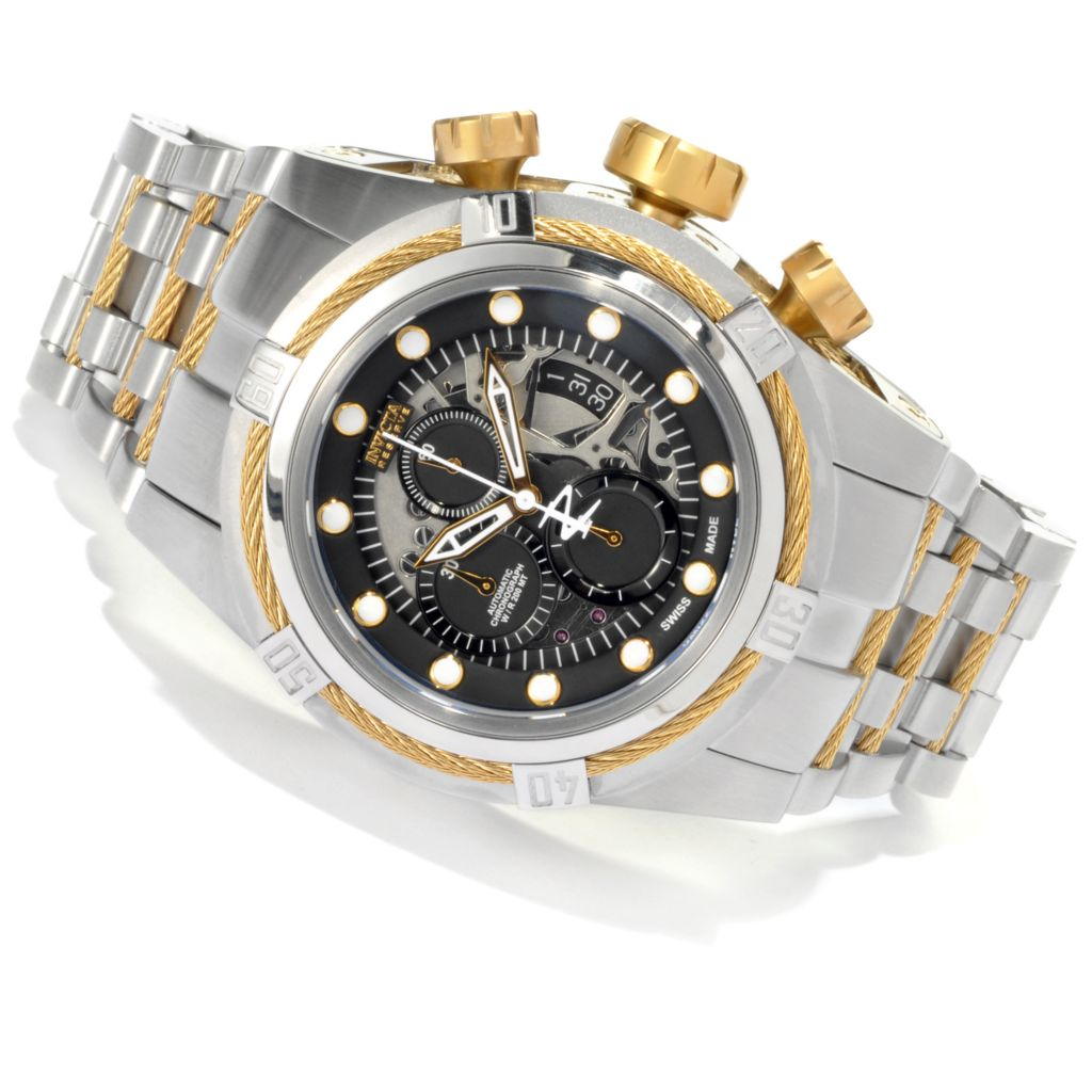 622-035 - Invicta Reserve 51mm Bolt Zeus Swiss Dubois Depraz Automatic Bracelet Watch