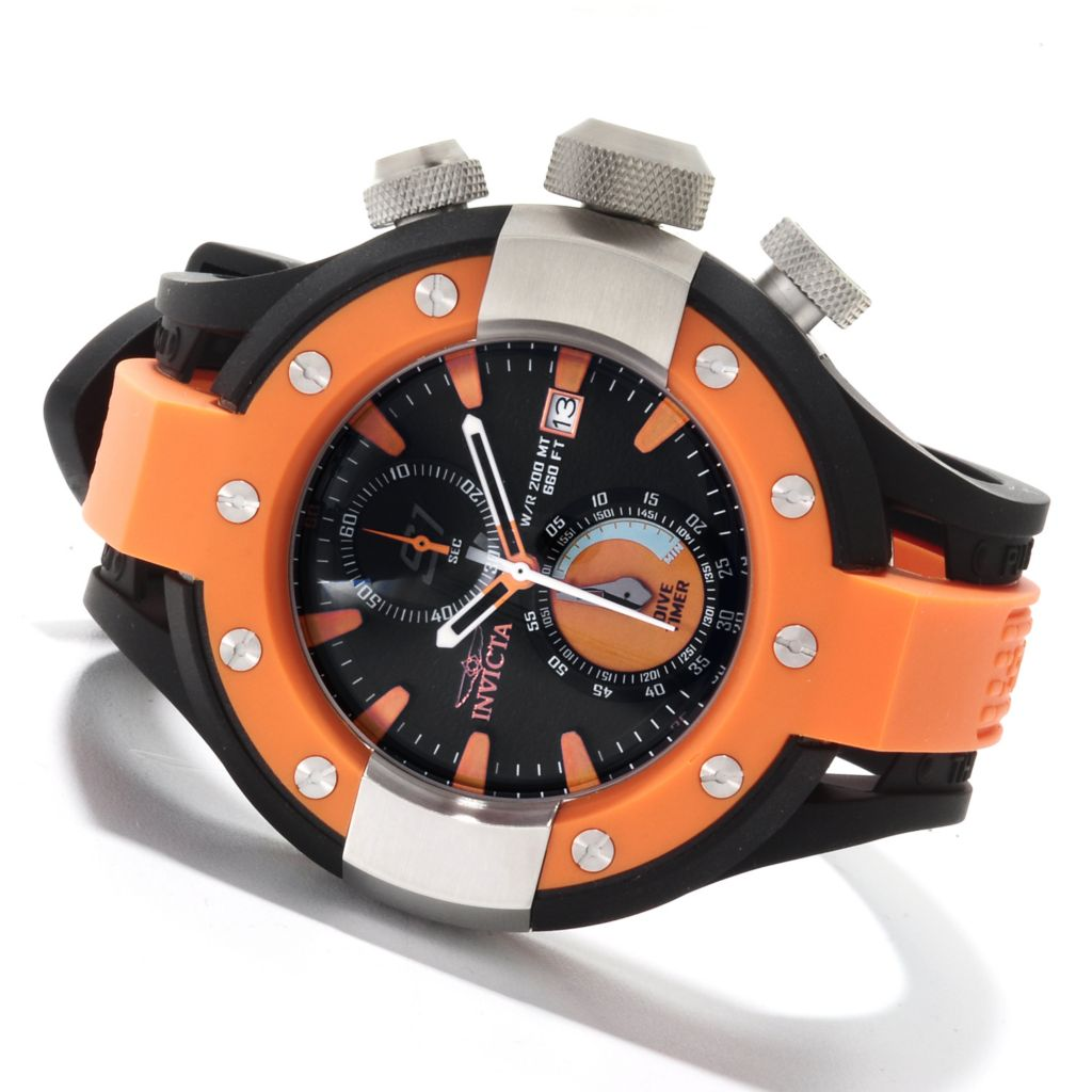 622-067 - Invicta 52mm S1 Rally Quartz Chronograph Stainless Steel Polyurethane Strap Watch