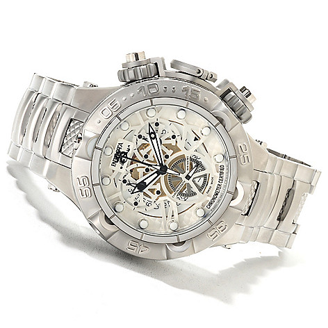 622-075 - Invicta Men's Subaqua Noma V COSC Swiss Made Quartz Chronograph Stainless Steel Bracelet Watch