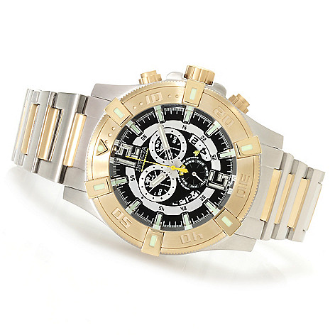 622-078 - Invicta Men's Luminary Tritium Tubes Swiss Chronograph Stainless Steel Bracelet Watch