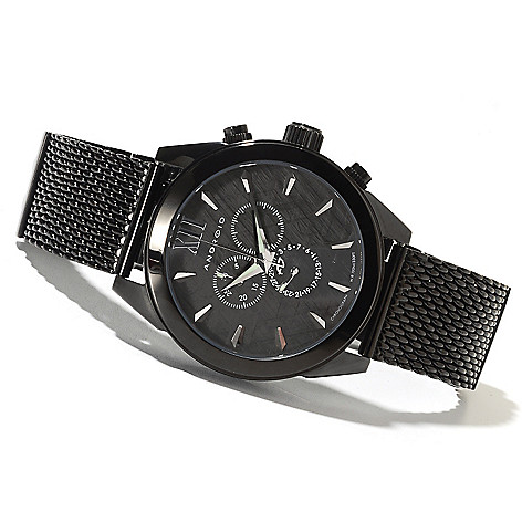 622-095 - Android Men's Vertigo Quartz Chronograph Stainless Steel Bracelet Watch