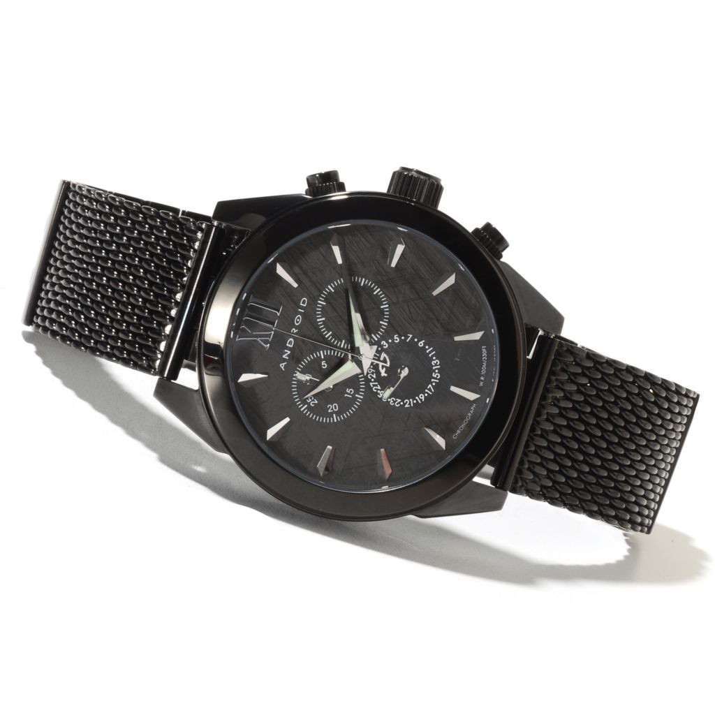 622-095 - Android 48mm Vertigo Quartz Chronograph Stainless Steel Bracelet Watch