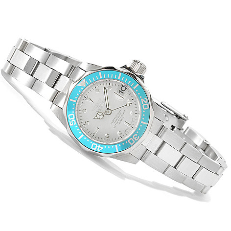 622-164 - Invicta Women's Pro Diver Mini Quartz Stainless Steel Bracelet Watch