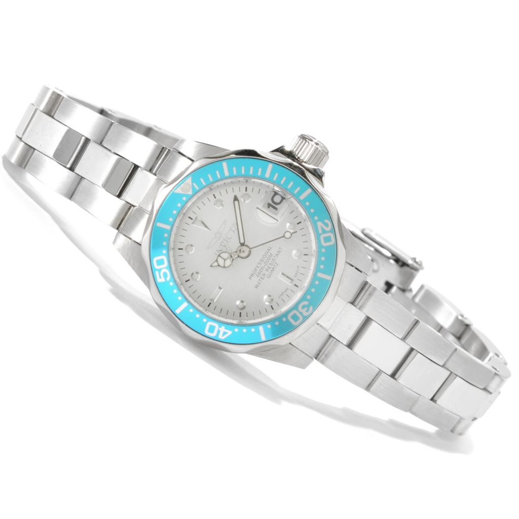 622-164 - Invicta Women's Pro Diver Mini Quartz Stainless Steel Bracelet Watch