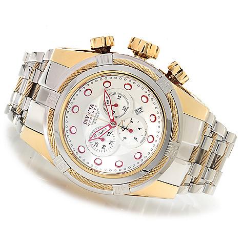 622-173 - Invicta Reserve 52mm Bolt Zeus Swiss Made Quartz Chronograph Bracelet Watch