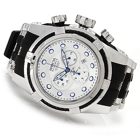 622-174 - Invicta Reserve Men's Bolt Zeus Swiss Made Quartz Chronograph Polyurethane Strap Watch