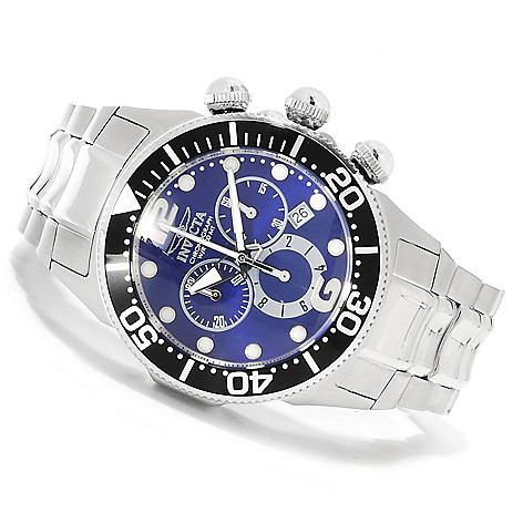622-177 - Invicta 47mm Lupah Diver Quartz Chronograph Stainless Steel Bracelet Watch