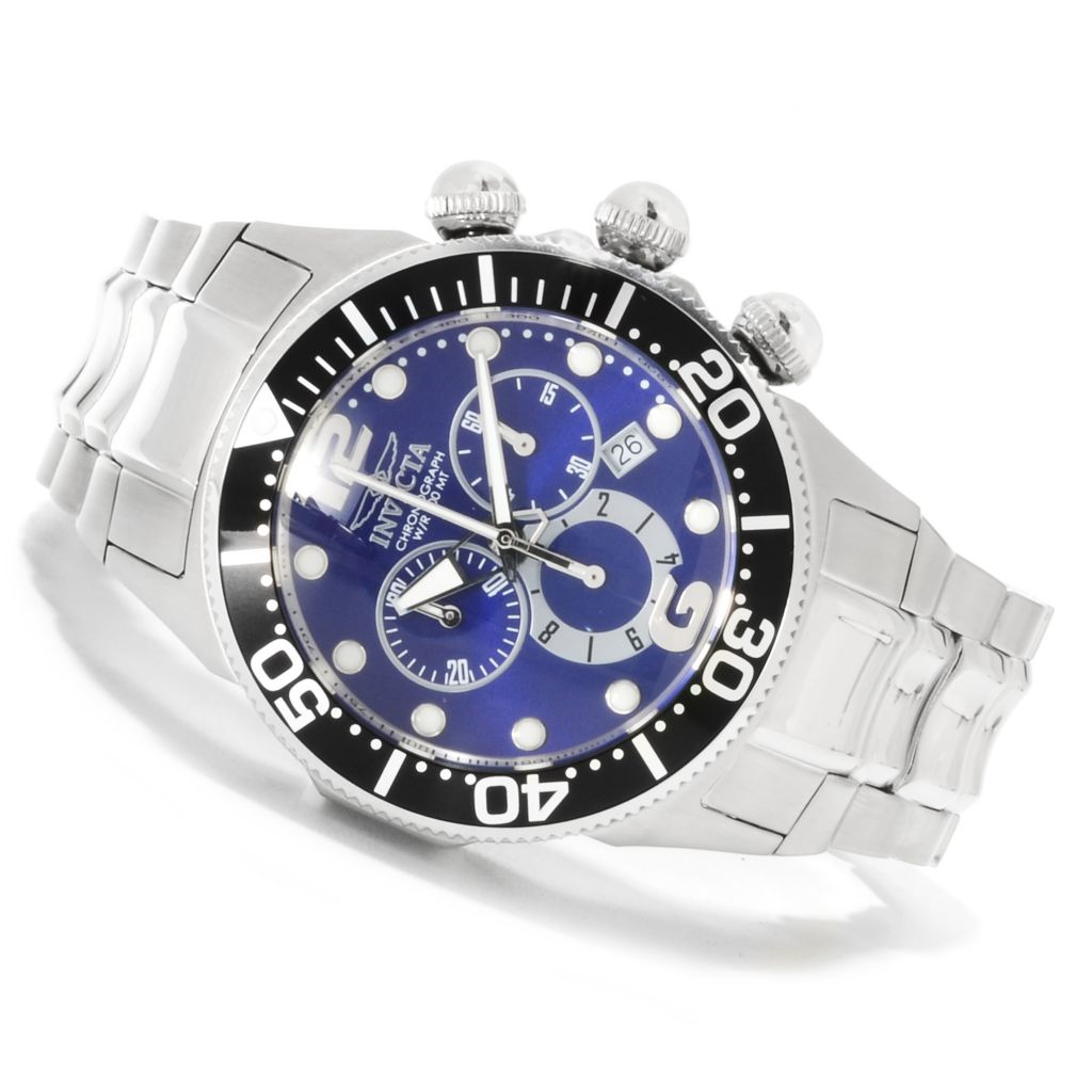 622-177 - Invicta Men's Lupah Diver Quartz Chronograph Stainless Steel Bracelet Watch
