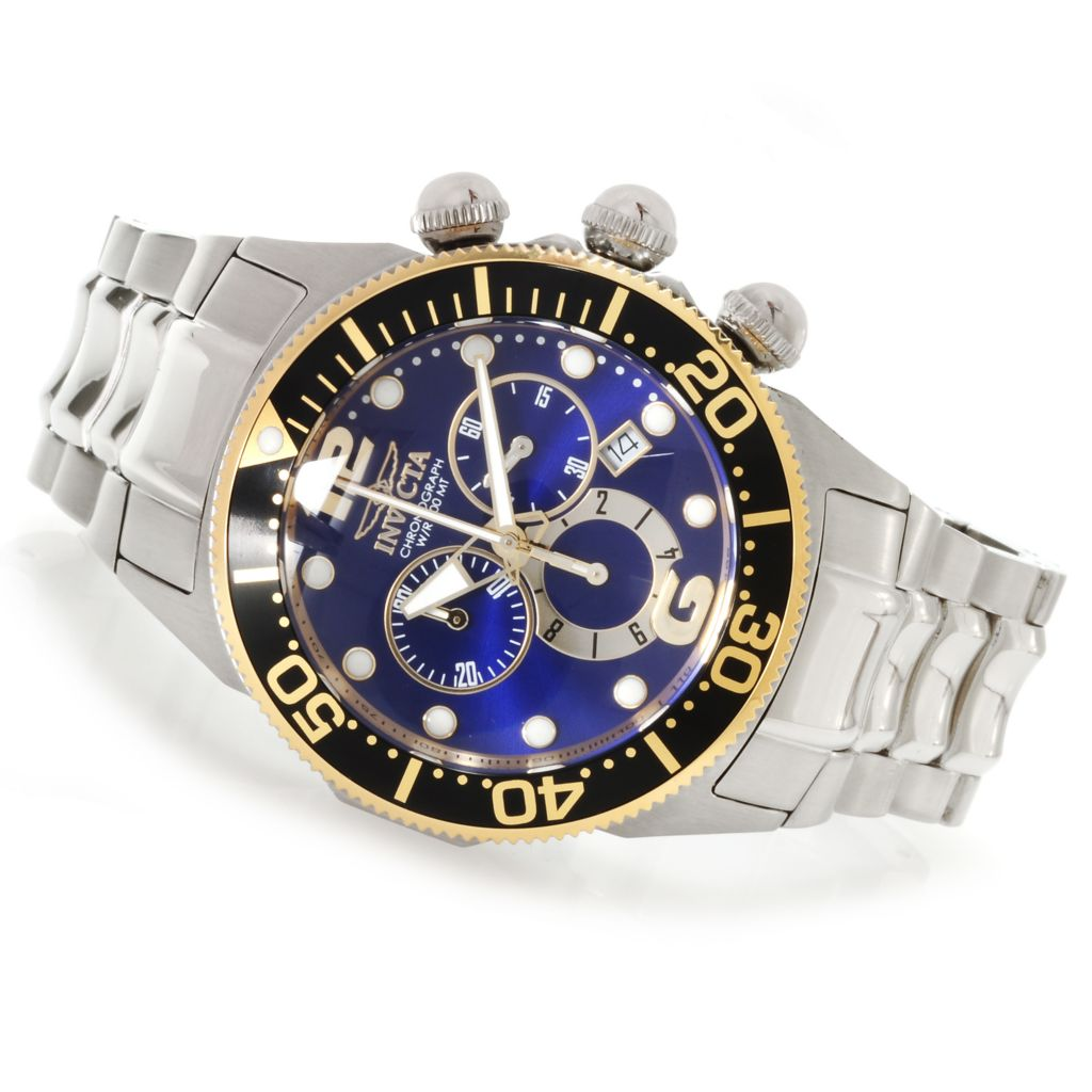 622-178 - Invicta 47mm Lupah Diver Quartz Chronograph Stainless Steel Bracelet Watch