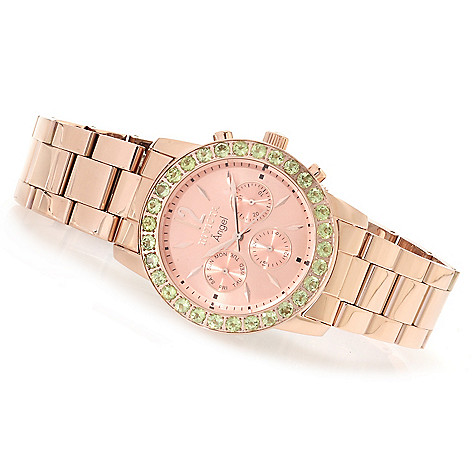 622-186 - Invicta Women's Angel Gemstone Limited Edition Stainless Steel Bracelet Watch