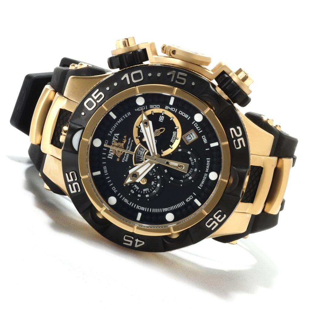622-188 - Invicta 50mm Subaqua Noma V Swiss Made Quartz Chronograph Polyurethane Strap Watch