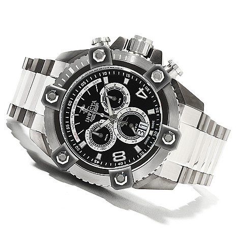622-189 - Invicta Reserve 63mm Grand Octane Swiss Made Quartz Chronograph Stainless Steel Bracelet Watch