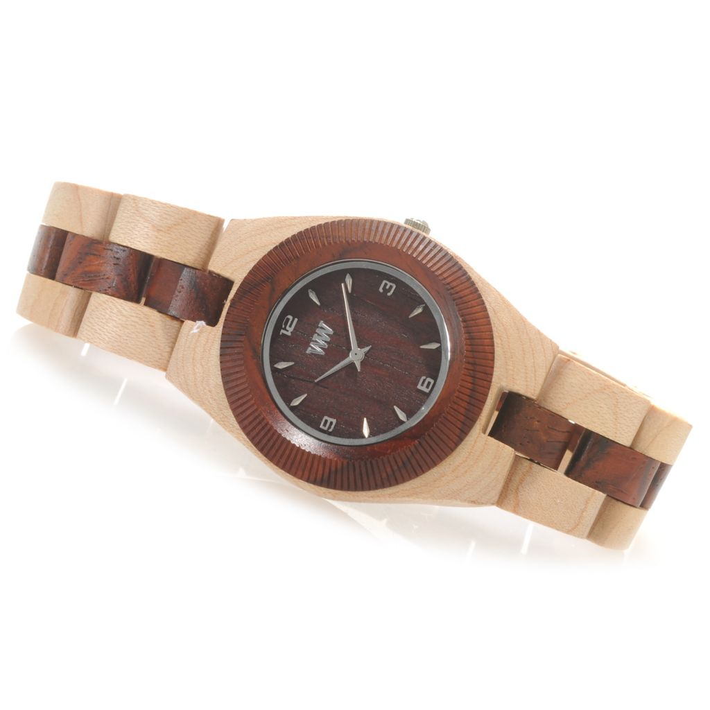 "622-202 - WeWOOD Women's ""Odyssey"" Quartz Wooden Bracelet Watch"