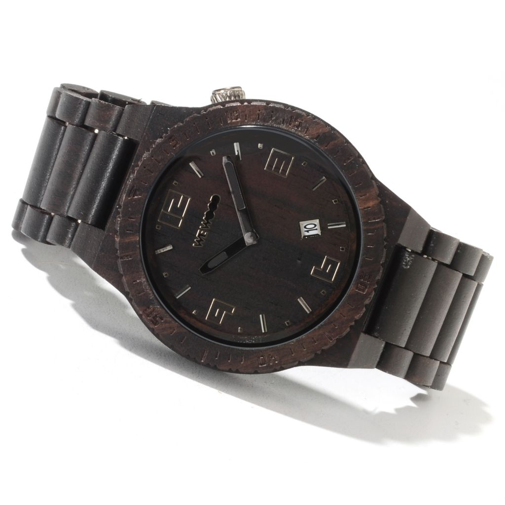622-203 - WeWOOD 46mm Voyage Quartz Wooden Bracelet Watch