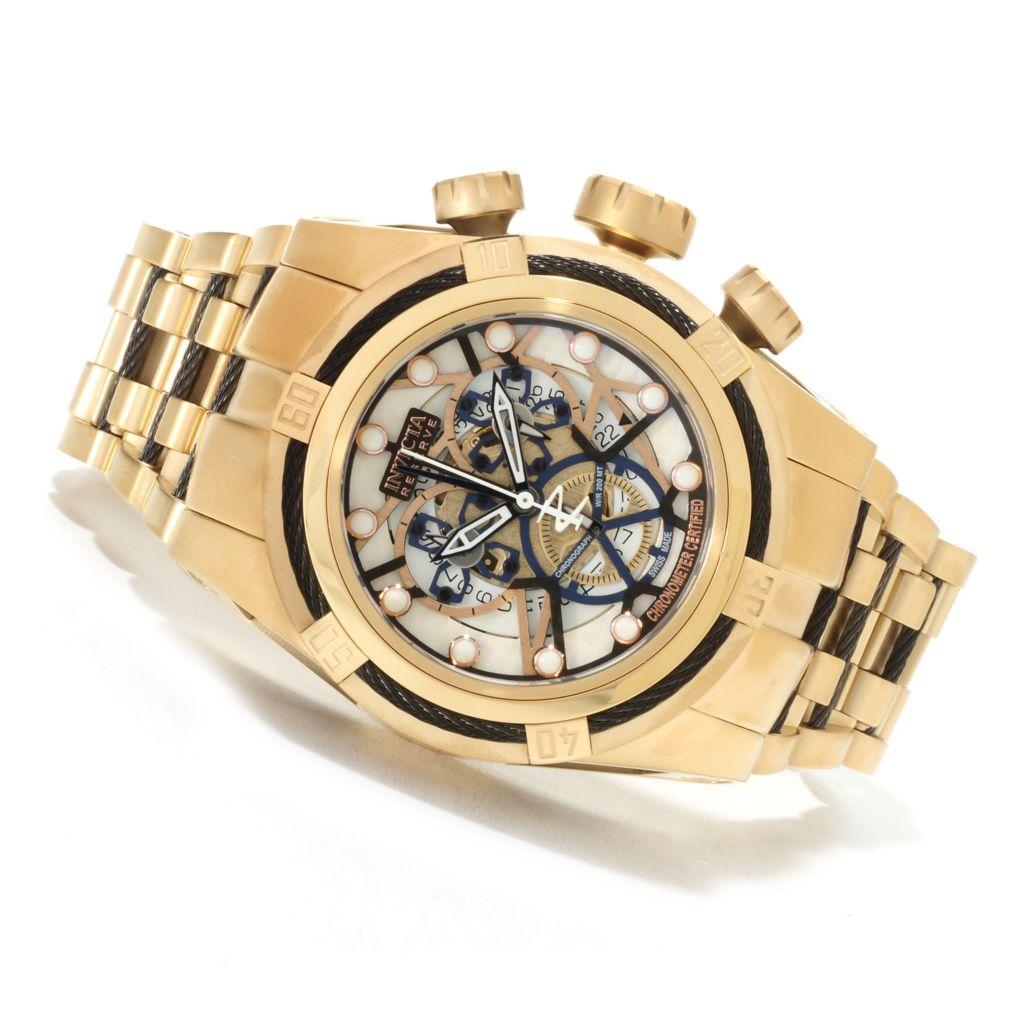 622-210 - Invicta Reserve 52mm Bolt Zeus Swiss Made COSC Quartz Chronograph Stainless Steel Bracelet Watch