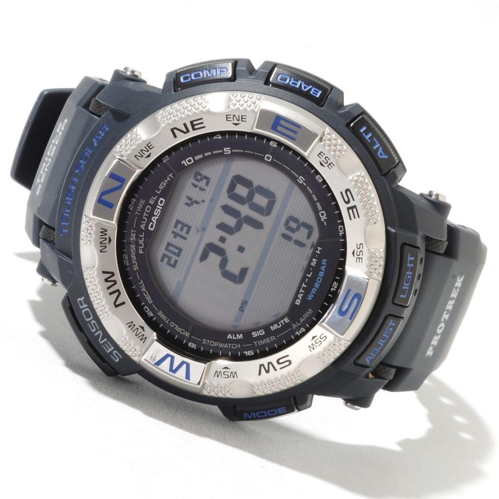 622-217 - Casio 54mm Pro Trek Digital Solar Quartz Rubber Strap Watch