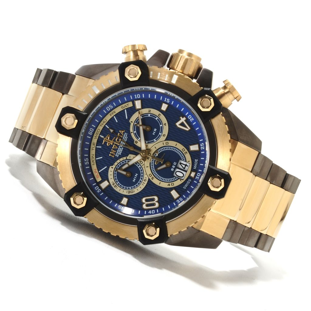 622-220 - Invicta Reserve 63mm Swiss Made Quartz Chronograph Stainless Steel Bracelet Watch