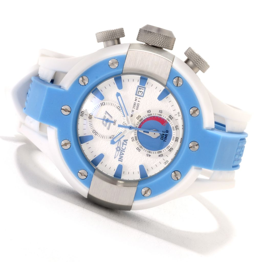 622-243 - Invicta Men's S1 Rally Quartz Chronograph Stainless Steel Polyurethane Strap Watch