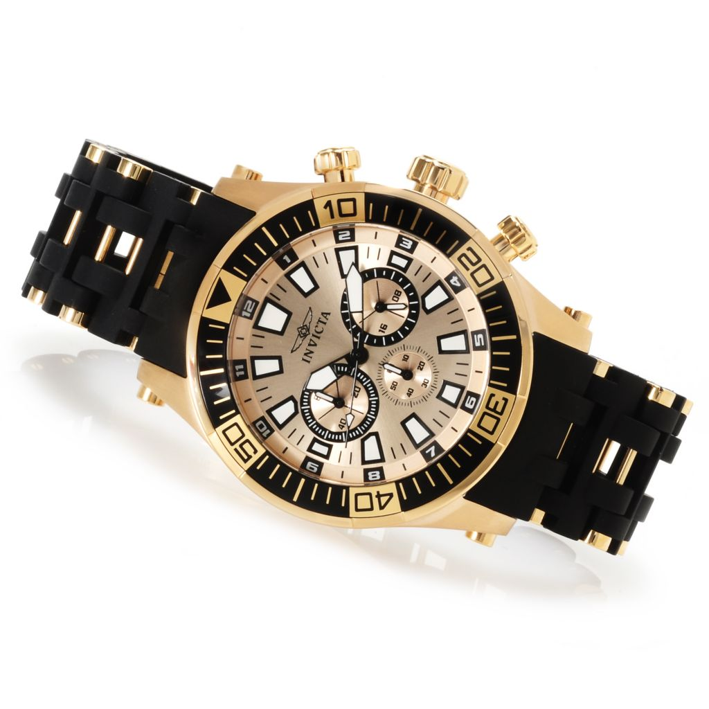 622-253 - Invicta Men's Sea Spider Quartz Chronograph Polyurethane Bracelet Watch