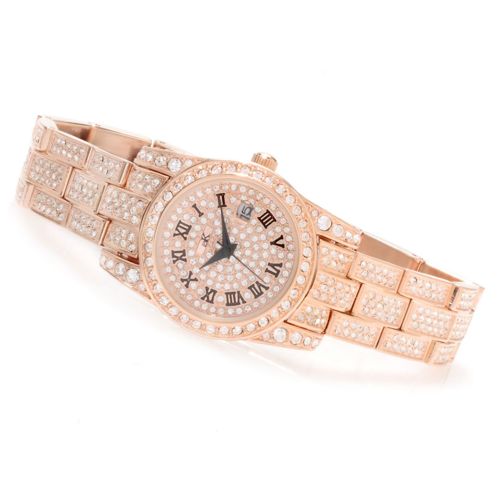 622-273 - Adee Kaye Women's Glaze Quartz Crystal Accented Bracelet Watch