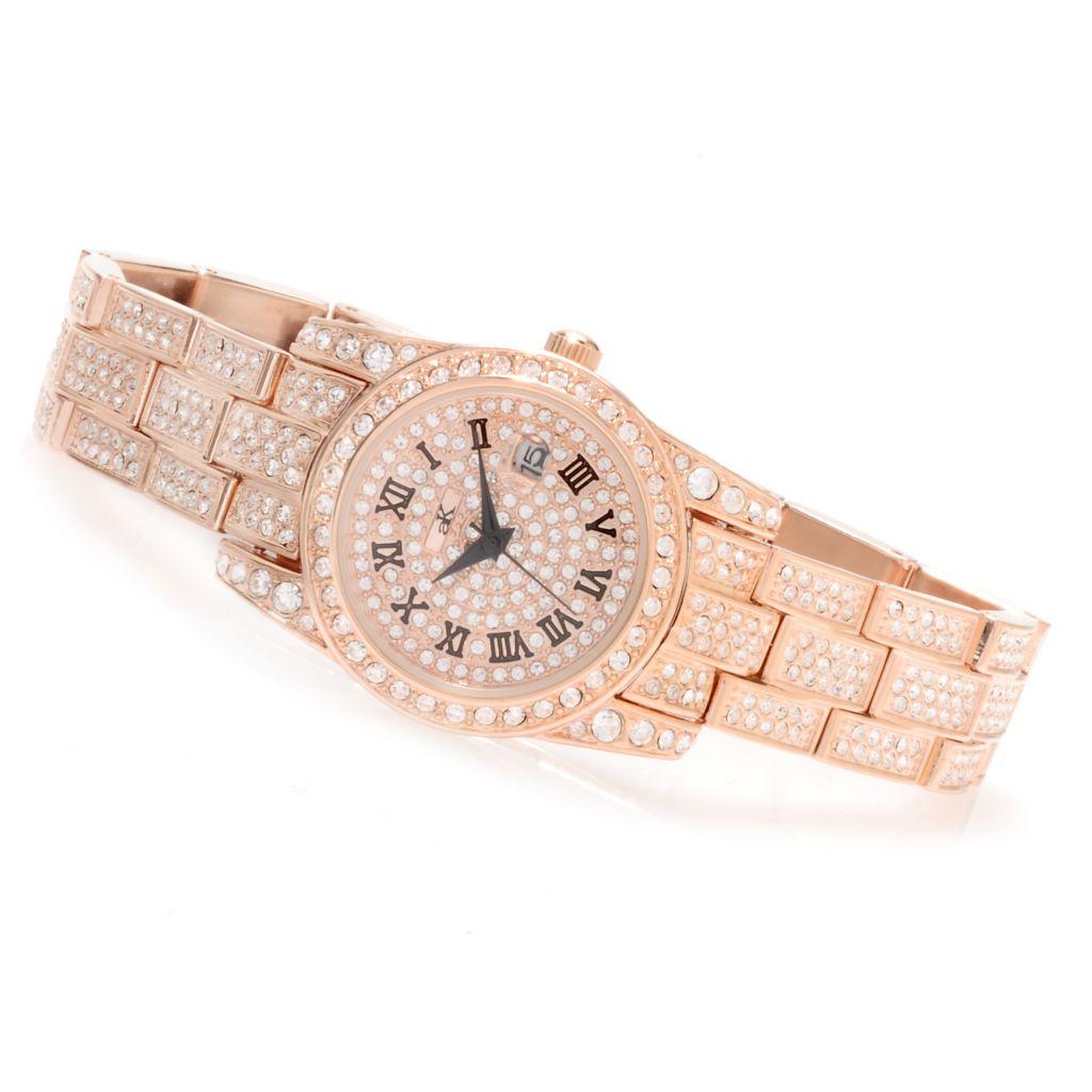 622-273 - Adee Kaye Women's Glaze Quartz Crystal Accented Bracelet Watch