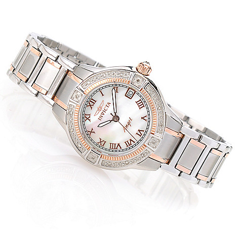 622-276 - Invicta Women's Angel Quartz Mother-of-Pearl Bracelet Watch