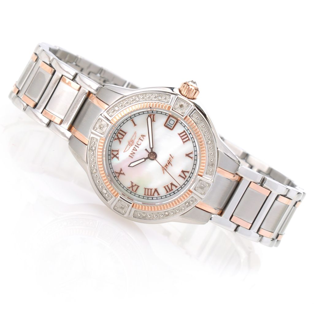622-276 - Invicta Women's Angel Quartz Mother-of-Pearl Stainless Steel Bracelet Watch