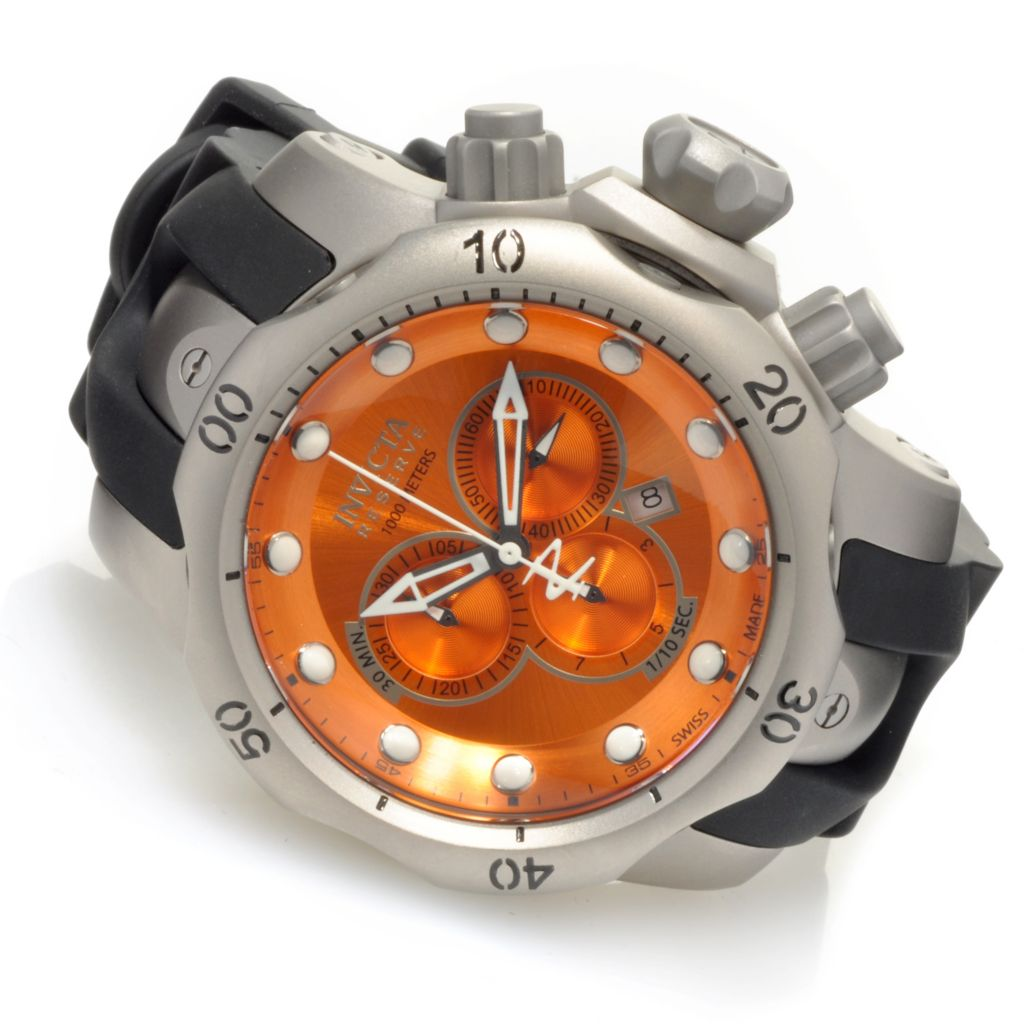 622-277 - Invicta Reserve Men's Venom Swiss Made Quartz Chronograph Titanium Silicone Strap Watch