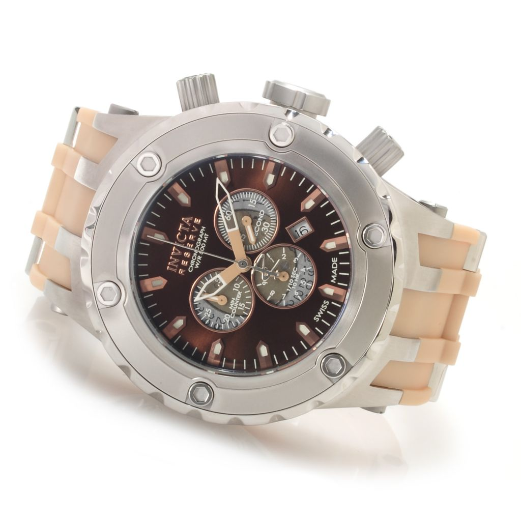 "622-279 - Invicta Reserve Specialty Subaqua ""Puppy Edition"" Swiss Chronograph Polyurethane Strap Watch"