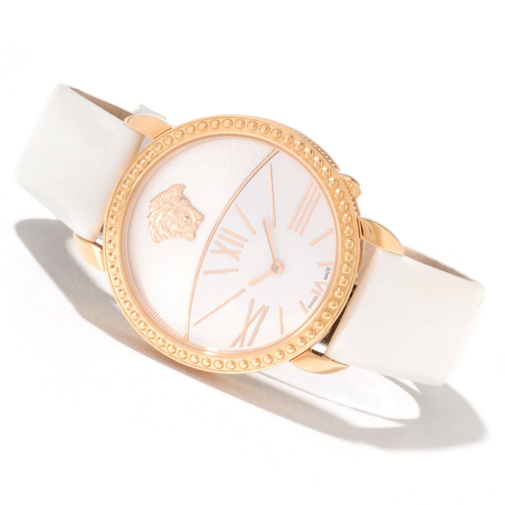 622-290 - Versace Women's Krios Swiss Made Quartz Leather Strap Watch
