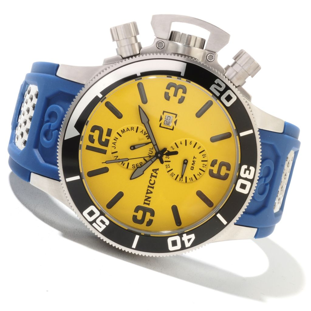 622-306 - Invicta Men's Corduba Quartz GMT Stainless Steel Case Polyurethane Strap Watch