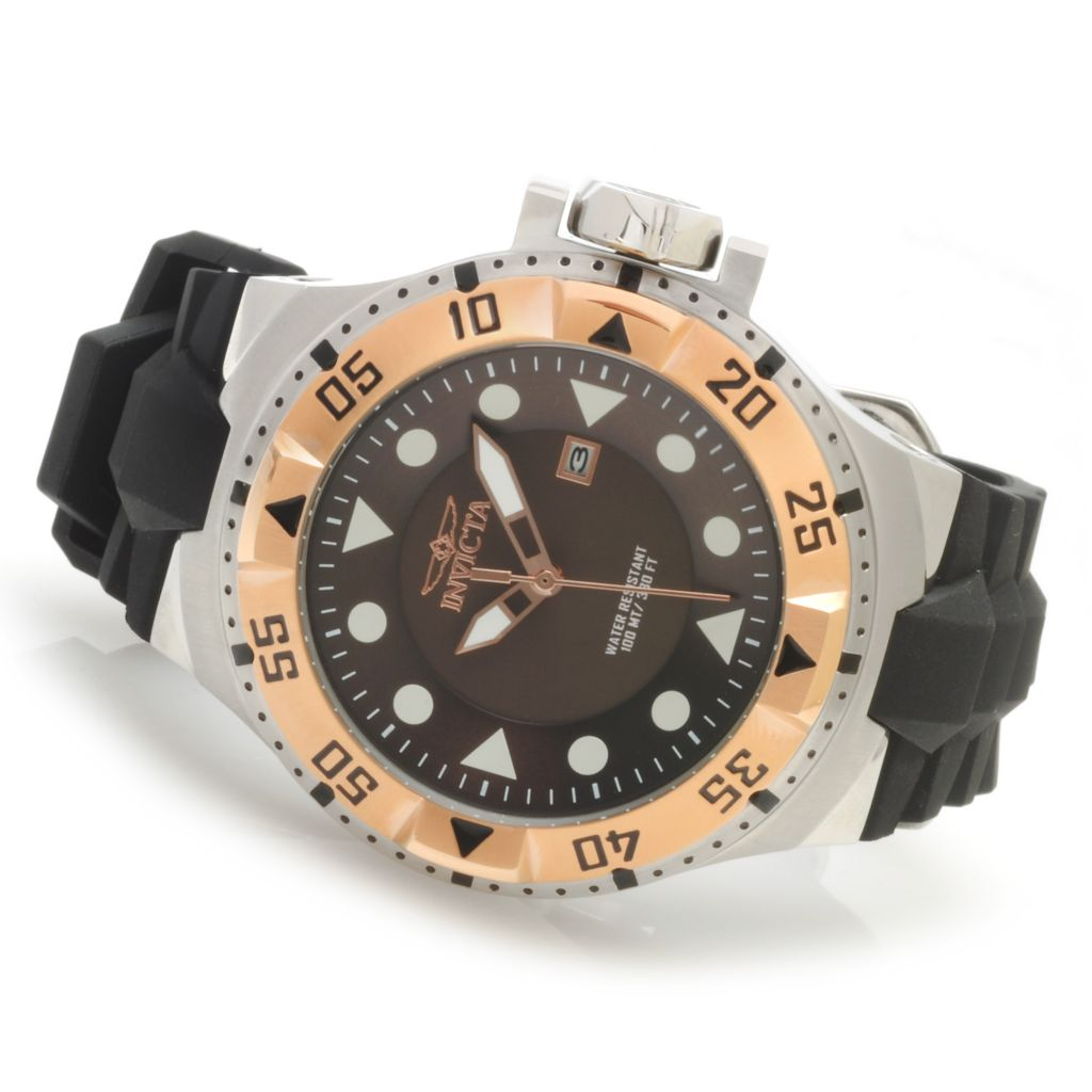 622-312 - Invicta 50mm Excursion Quartz Stainless Steel Silicone Strap Watch